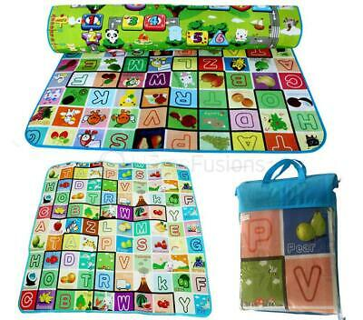 Kids Crawling 2 Side Soft Foam Educational Game Play Mat Picnic Carpet 200X180Cm