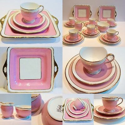 Pink Tea Cup Saucer and Tea Plate Radfords China Vintage Afternoon tea party x 1