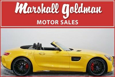 2018 Mercedes-Benz Other Base Convertible 2-Door 2018 Mercedes-Benz AMG GT C Roadster in AMG Solarbeam Yellow Black 385 miles