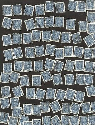 Stamps Canada # 221, 5¢, 1935, Lot of 100 used stamps.