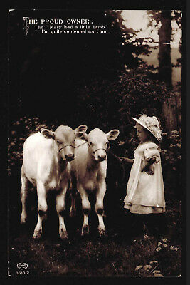 B45 RP Calves and Young Girl E. A. Schwerdtleger & Co EAS Posted 1913