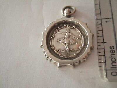 Beautiful Chester Solid Silver Ballet / Dance Medal Belle Vue 1930s