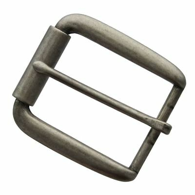 "Classic Single Prong Replacement Roller Belt Buckle, Fits 1-1/2"" wide"