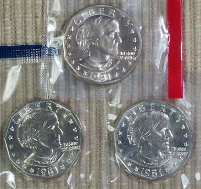 1981-PD&S In Mint Cello Susan B. Anthony Dollar - Best Value @ CherrypickerCoins