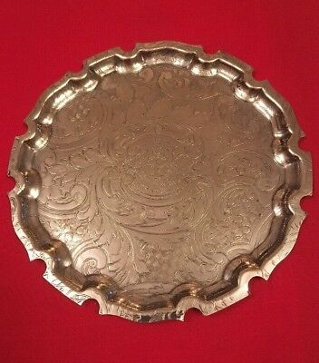 Vintage Silver Plated Dish c.1960's - 15.5cm Diameter