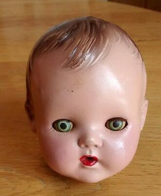 """VINTAGE BABY DOLL HEAD~unmarked. 3-4"""""""