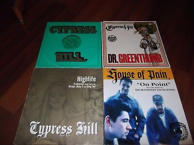 "A Job Lot Of  4  Hip Hop 12"" Singles.cypress Hill,house Of Pain.all Ex- / Ex."