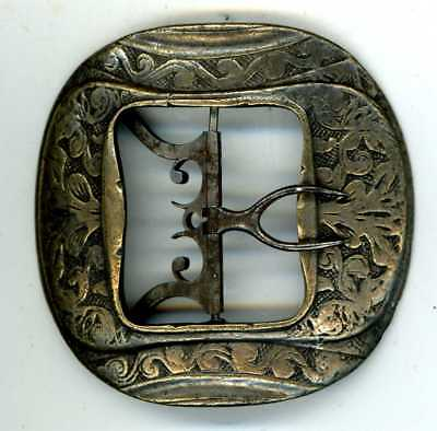 GEORGIAN, probably, BRASS & STEEL BUCKLE could be for a SHOE