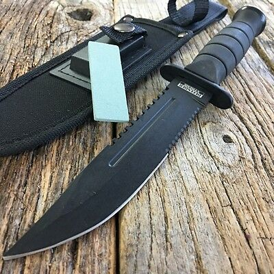 "10.5"" MILITARY TACTICAL COMBAT KNIFE w/ SHEATH Survival HUNTING Fixed Bowie"