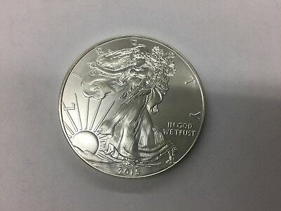 2015 Silver Dollar Coin ~ 1 troy oz AMERICAN EAGLE ~ Walking Liberty .999 Fine