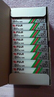 FUGI P6-120 METAL POWDER TAPE 8mm CASE OF 10 NEW AND SEALED 8mm CASSETTE TAPES