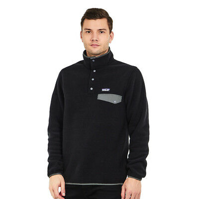 Patagonia - Lightweight Synchilla Snap-T Pullover - EU Fit Black / Forge Grey