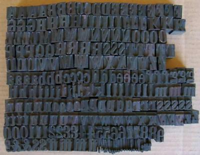 Vintage Letterpress Letters Wood Metal Type Numbers Printing Block  Lot #4