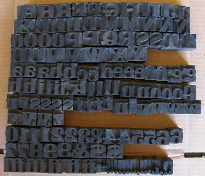Vintage Letterpress Letters Wood Metal Type Numbers Printing Block  Lot #5