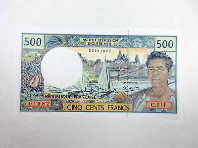 French Pacific Territories 500 Francs ND (1992) P-1e UNC