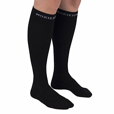 Authentic Graduated Compression Recovery Socks For Sports And Running black, L-x