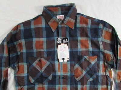 Vtg NOS 60s Penney's Big Mac All Cotton Flannel Work Shirt Sz M Deadstock 50s