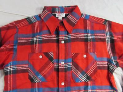 Vtg NOS 50s 60s Winter King 100% Cotton Heavy Flannel Work Shirt Deadstock Plaid