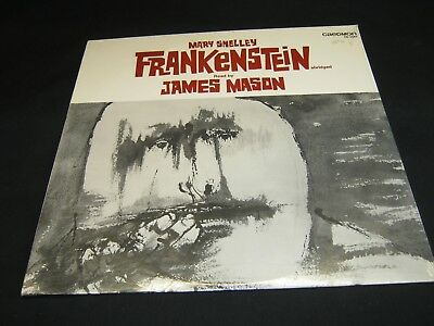 FRANKENSTEIN by Mary Shelley read by James Mason MINT Spoken Word Caedmon LP