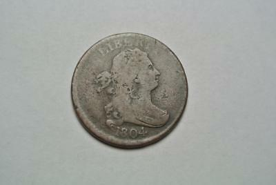 1804 Draped Bust Half Cent, Crosslet 4, Good/VG Condition - C5311