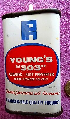 Parker Hale Tin Oil Can Young's 303 4.4 Fl Oz's Very Nice Condition
