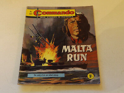 Commando War Comic Number 251!,1967 Issue,v Good For Age,51 Years Old,very Rare