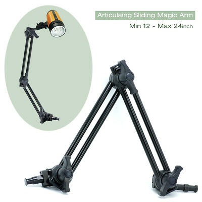 "12-24"" Articulating Sliding Studio Arm 360° Rotation w/5/8"" & 3/8"" Female Socket"