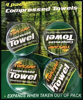 Compressed Towels Camping Hiking Festival Survival Aid Teatowel Tea Washing