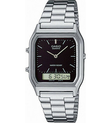Casio Analogue and Digital LCD Combi Stainless Steel Watch Model AQ-230A-1DMQYES