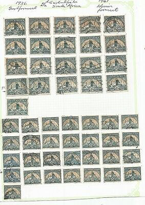 South Africa , George Vi Period , X 9 Pages Used , Mixed Condition