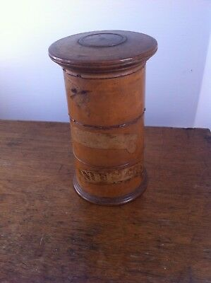 EARLY 19th CENTURY DECORATIVE STACKING WOODEN 3 TIER SPICE TOWER 5.8  inches