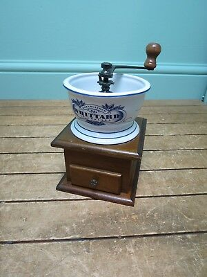 Ceramic Coffee Grinder Whittard of Chelsea Good Condition 21cm High