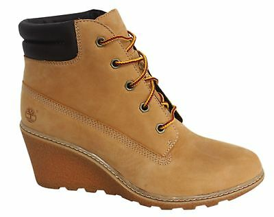 1fca3f94fb0 TIMBERLAND EARTHKEEPERS EK Amston 6 Inch Womens Wedge Boots Wheat 8251A D33