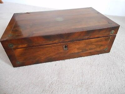 Victorian Antique Large Fitted Cutlery Box with Campaign Handles