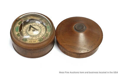 Black Forest Working Antique 1870s Wood Compass German