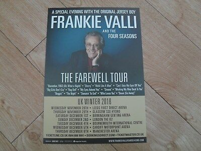 FRANKIE VALLI & THE FOUR SEASONS - lovely colour tour flyer (Mint) Farewell Tour