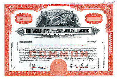 Chicago, Milwaukee, St. Paul and Pacific Railroad Co., ca.1940-1950 Specimen Sto