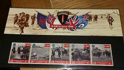 GB Great Britain 1994 Stamps D Day 6th June 1944 set Mint UK POST