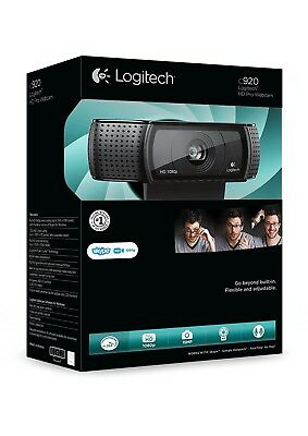 Logitech HD PRO C920 USB 1080p Webcam w/Mic PC & MAC, Skype Youtube Facebook NEW