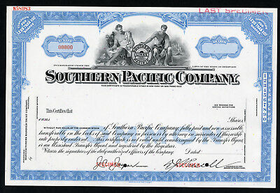 Southern Pacific Co., 1920-40 Specimen <100 Shares XF ABN