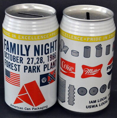American Can Company FAMILY NIGHT Coca-Cola Pepsi Miller SODA BEER CAN!