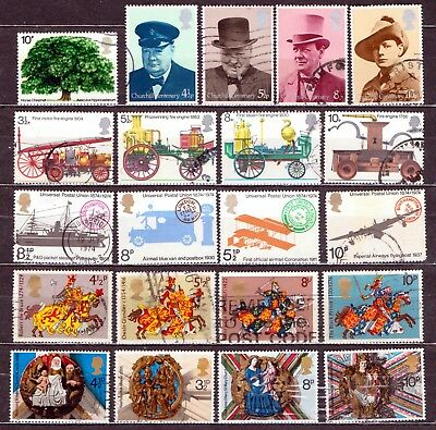 QEII 1974 Yearset  6 used Commemorative sets (j547)