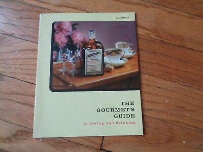 Gourmet's Guide Contreau Vintage Cocktail Recipes Book Guide Bar Mixed Drinks
