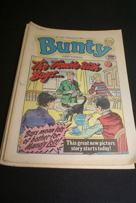 BUNTY No. 1623. February 18th 1989. new story The Trouble with Boys