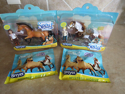 NIB Breyer LOT Spirit Riding Free sets dolls 4 horses 2 riders Mystery Horse!
