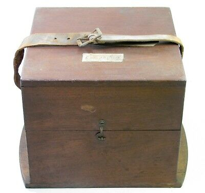 Antique Ships Marine Chronometer Clock Wooden Box Case Parts