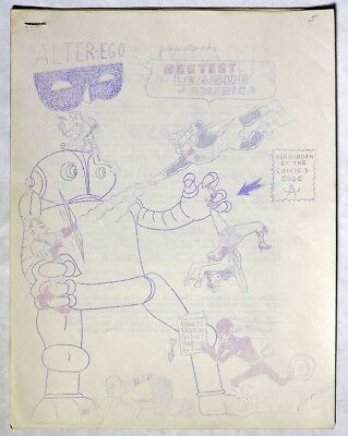 S060. ALTER-EGO #1 by Jerry Bails & Roy Thomas 1961 1st Comics-Related Fanzine~~