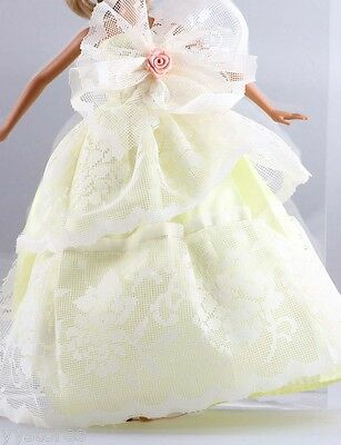 Charming Handmade Barbie Party Cyan Clothes/Dress/Skirt/Gown For Barbie Doll 86