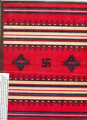 Very Scarce Large 9x12 Tobacco Indian Blanket 1910-15