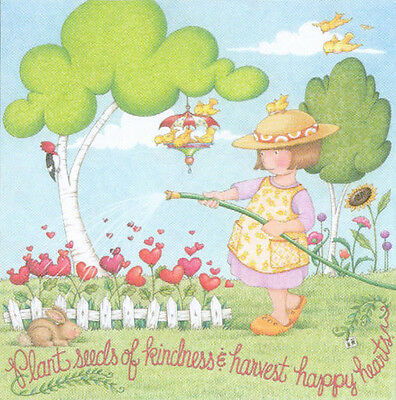 PLANT SEEDS OF KINDNESS-Handcrafted Fridge Magnet-Using art by Mary Engelbreit